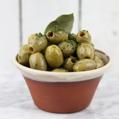 Silver & Green Thyme Bay Olives (Pitted Green)