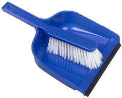 JG Dust Pan & Brush Set Stiff Blue