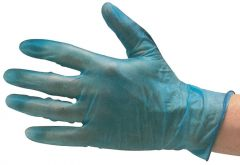 JG Vinyl Gloves Powder Free Blue Sm