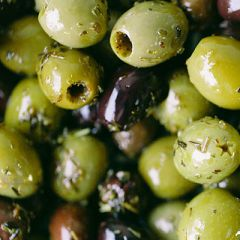 Silver & Green Rosemary Garlic Olives (Mixed Pitted)