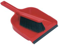 JG Dust Pan & Brush Set Stiff Red