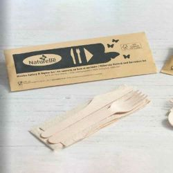 Kraft Wrapped Meal Pack Knife/Fork/Napkin