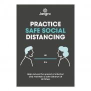 Practice Safe Social Distancing Poster