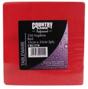 CR Red Napkin 33cm x 2ply
