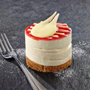 Pete's PatiserrieIndividual Strawberry & Prosecco Cheesecake
