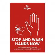 Stop and Wash Hands Now Poster