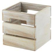 White Acacia Wood Box/Riser