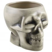 Genware White Skull Tiki Mug