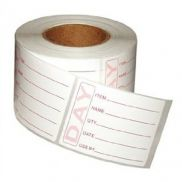 Prepped Product Labels Roll