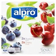 Alpro Blueberry & Cherry Yoghurts