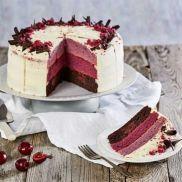 CR Prem Choc Cherry Ombre Cake
