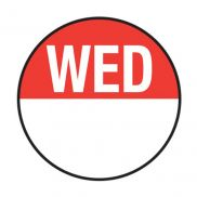 Day Dot Labels - Wednesday
