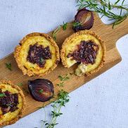 Gluten Free Brie and Red Onion Tart