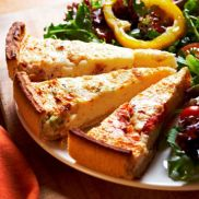 Country Range Tomato and Basil Quiche
