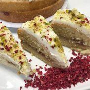 Cakes from the Lakes Vegan Lemon, Raspberry & Pistachio Cake