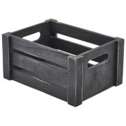 Wooden Crate Black Finish