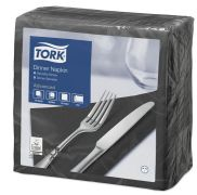 Tork Dinner Napkin 39cm Black 2ply