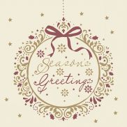 Seasons Greetings Napkin 33cm/2ply