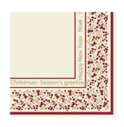 Seasons Greet Swansoft Napkin 40cm